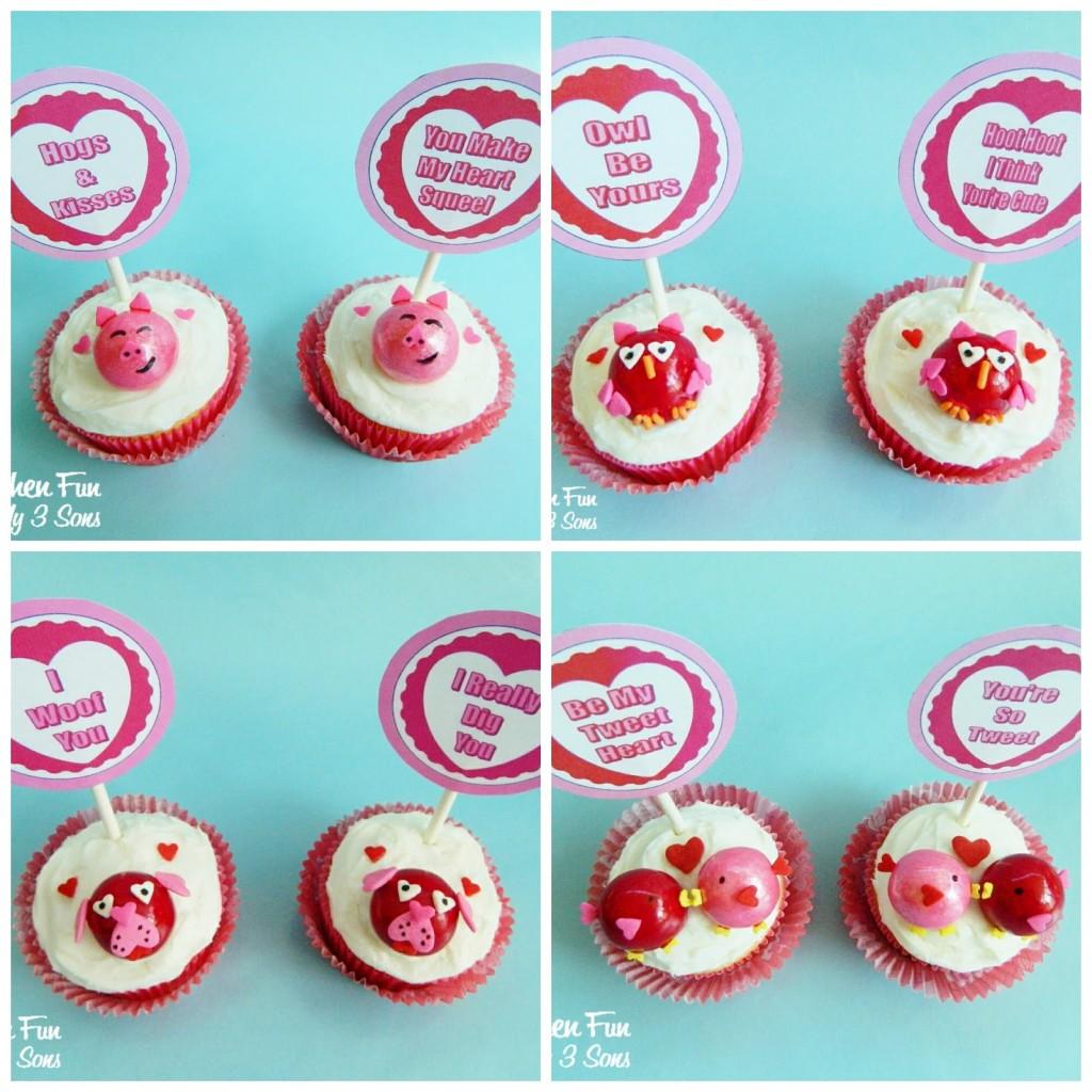 fun & easy Valentine Cupcake idea!