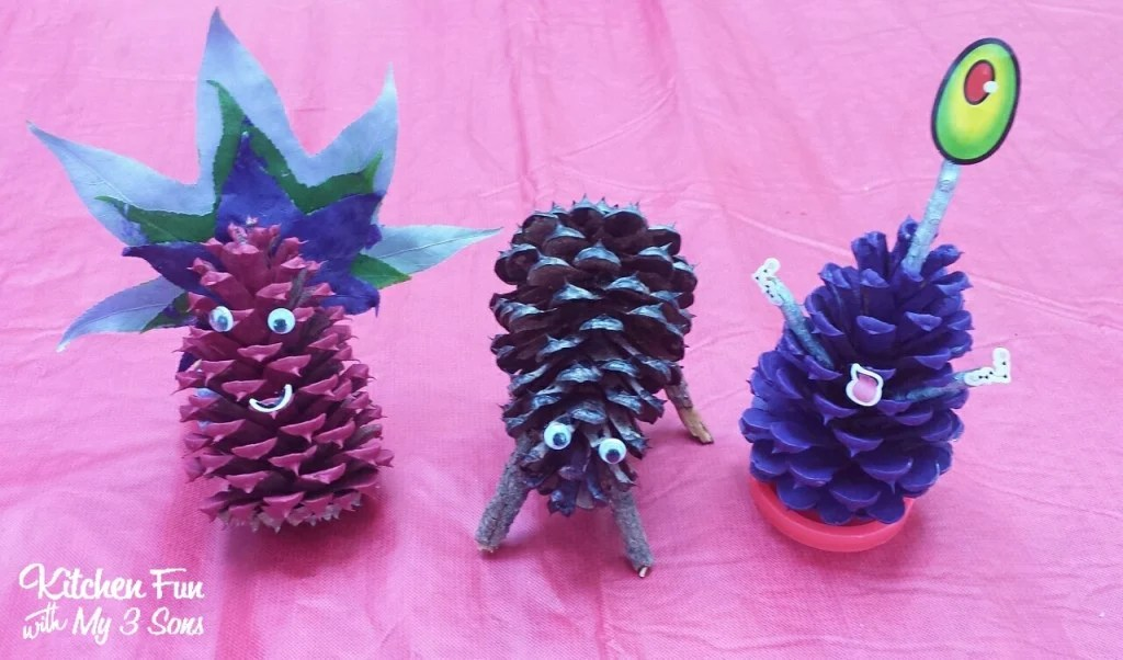They also painted leaves & pine cones