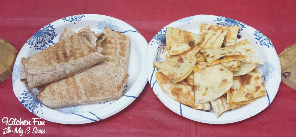 We also made burritos & quesadillas on the grill