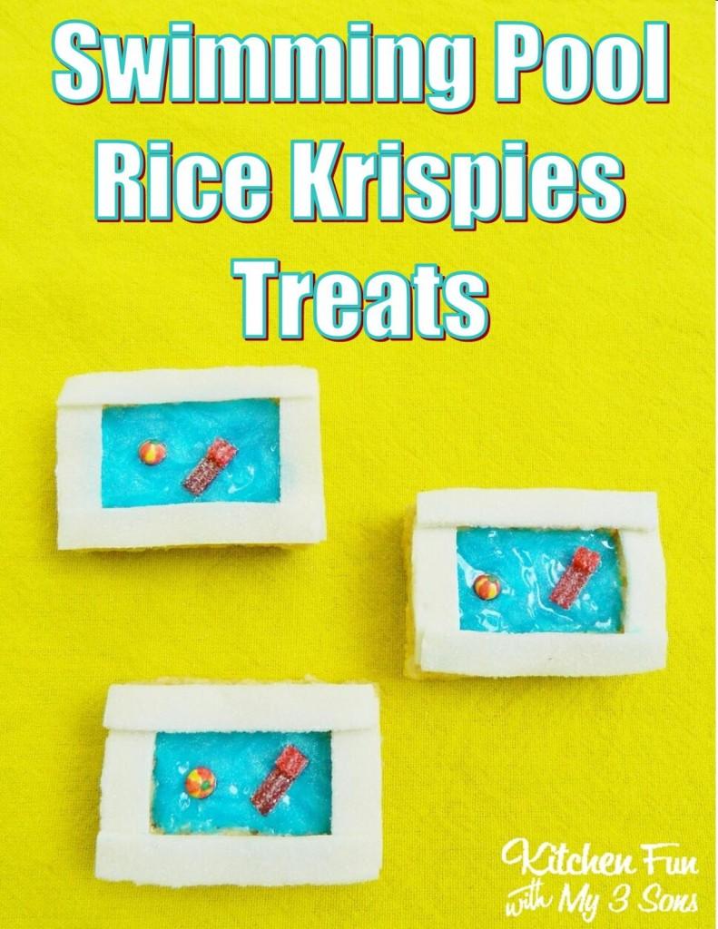 Swimming Pool Rice Krispies Treats
