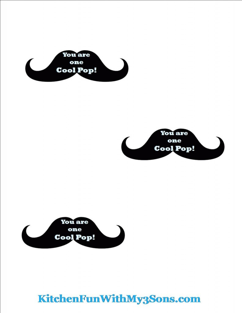 One Cool Pop Mustache Free Printable!