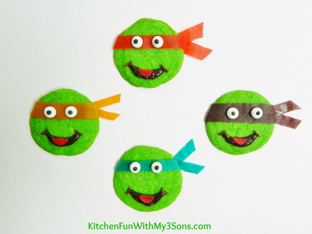 Easy Teenage Mutant Ninja Turtle Cookies