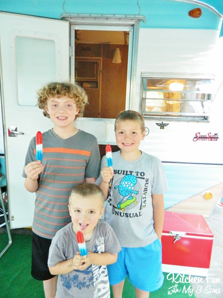 Here are my boys with their Popsicle's on our last camping trip