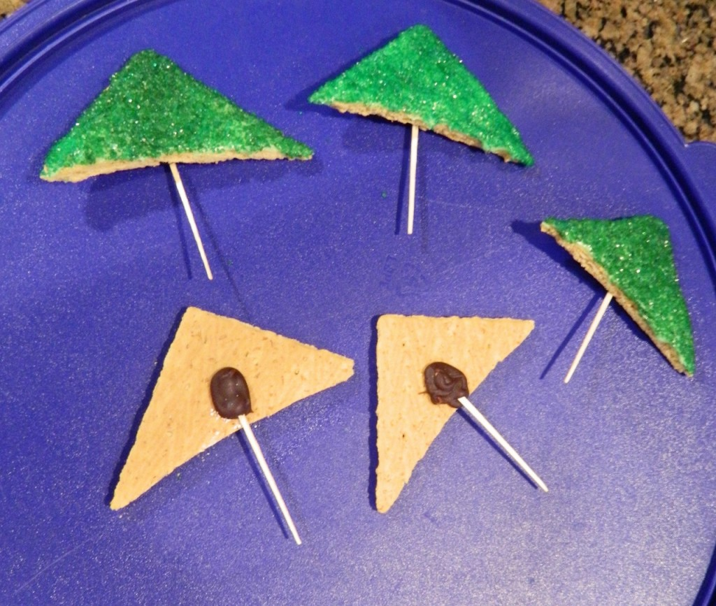 then added a toothpick on the back securing with a little cookie icing