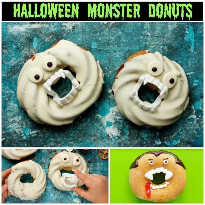 Halloween Monster Donuts