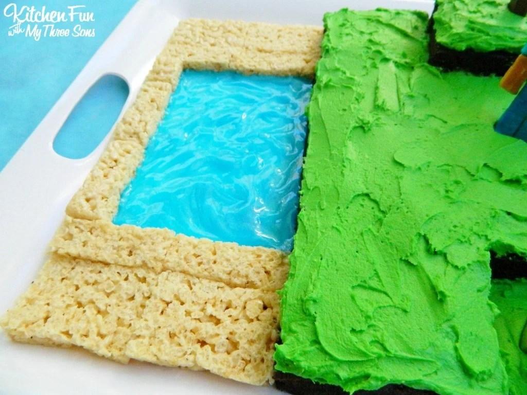 Easy Minecraft Birthday Party Cake