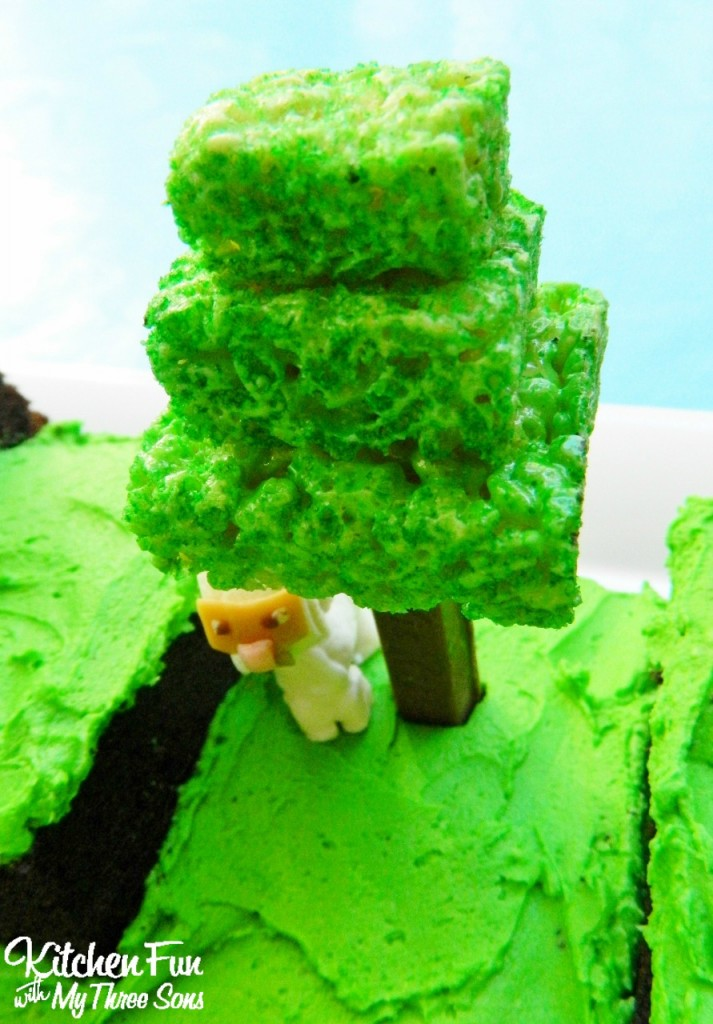 Easy Minecraft Birthday Party Cake Tree