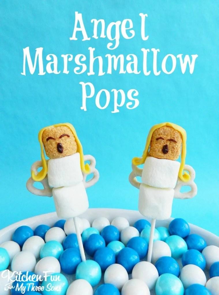 Angel Marshmallow Pops