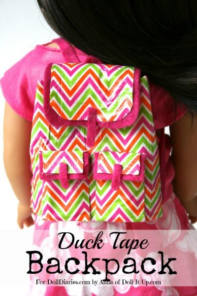 DIY Duck Tape Doll Back Pack