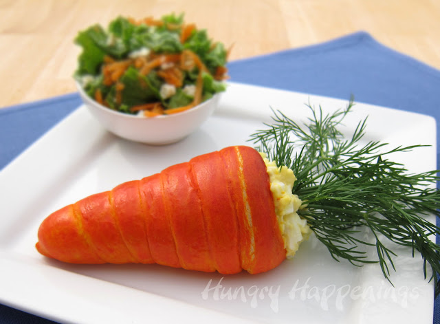 Carrot Crescent Filled with Egg Salad