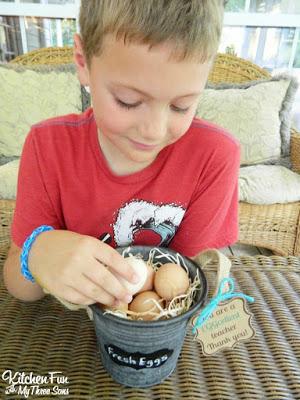 Teacher Appreciation Farm Fresh Eggs Gift with Free Printable!