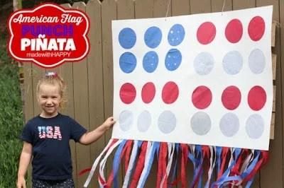 American Flag Punch Pinata