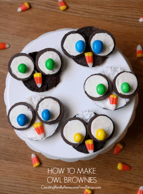 Easy Owl Brownies