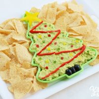 Christmas Tree Guacamole Appetizer Dip
