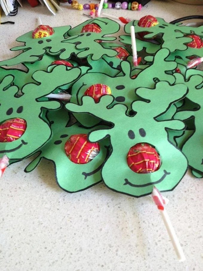 Rudolph the Red Nose Reindeer Lollipop Christmas Craft