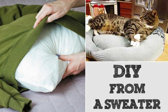 DIY Sweater Pet Bed