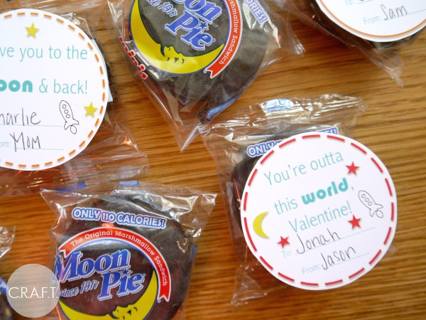 You're Out of this World Moon Pie Valentine for Kids!