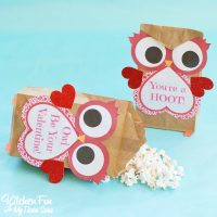 Valentine Owl Craft - Paper Treat Bags with a Free Printable!