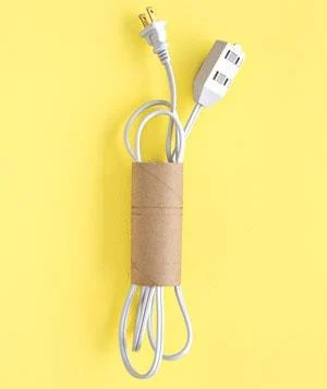 Organize Cords in Toilet Paper Tubes & other Home Organization ideas!