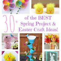 Over 30 of the BEST Spring Project & Easter Craft Ideas from KitchenFunWithMy3Sons.com