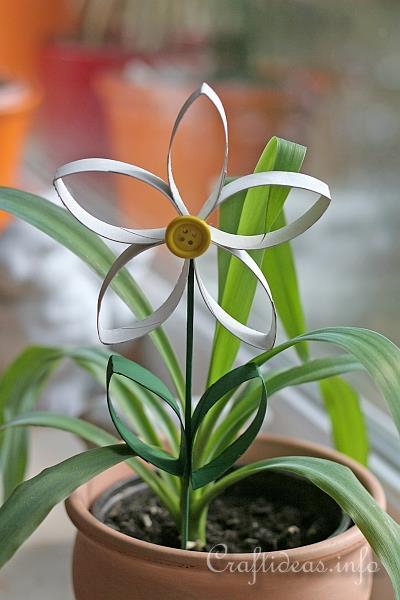 Cardboard Tube Spring Flowers Craft