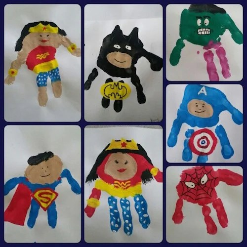 Super Hero Handprint Art