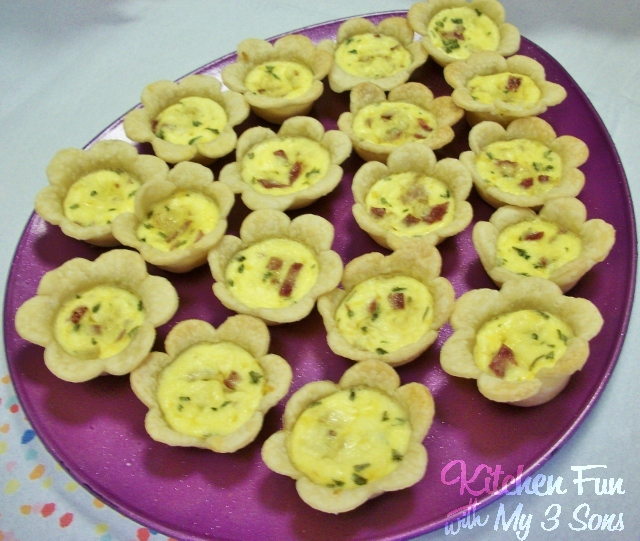 Easy Flower Quiches for Spring Brunch from KitchenFunWithMy3Sons.com