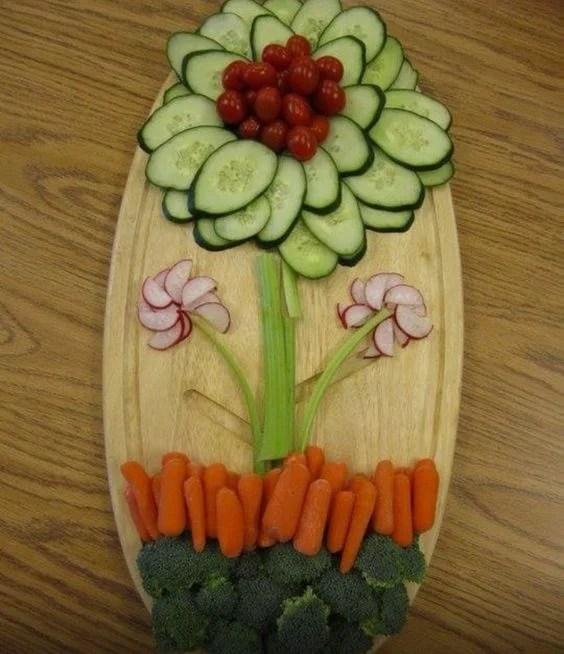 Spring Veggie Platter...great idea for Easter!