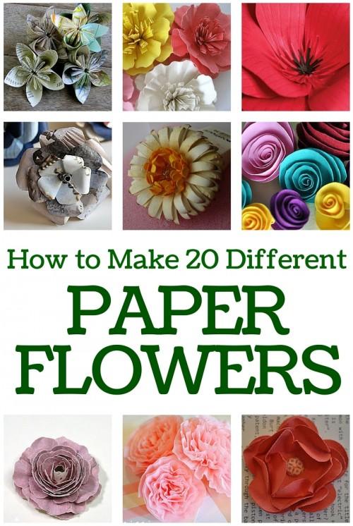 20 Paper Flower Crafts