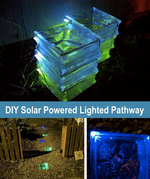 DIY Solar Powered Lighted Pathway...these are the BEST DIY Yard Ideas!