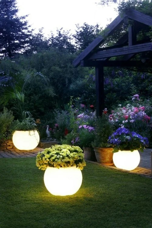 Painted Glow in the Dark Flower Pots