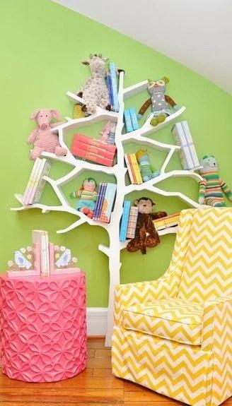 Tree Bookcase Reading Nook