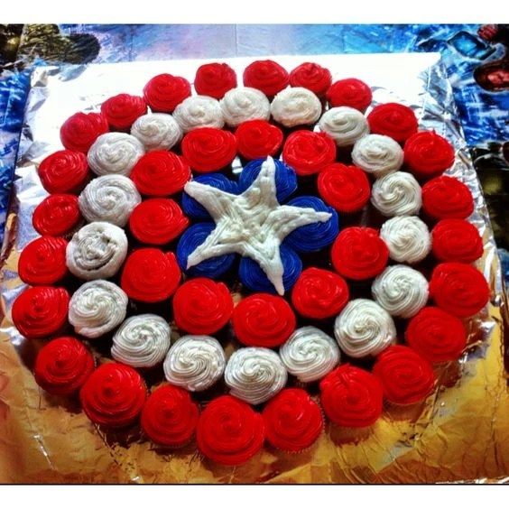 Captain America Pull-Apart Cake