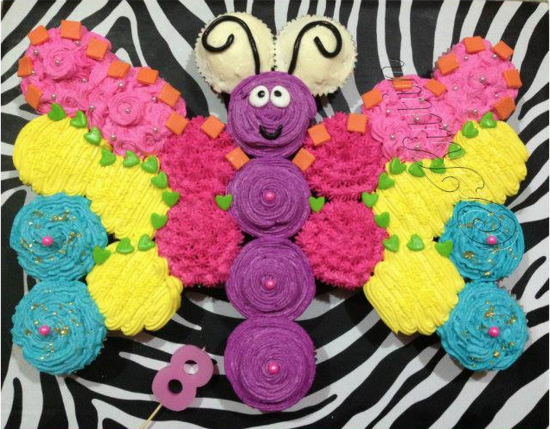 Butterfly Cupcake Cake...these are the BEST Pull-Apart Cake Ideas!