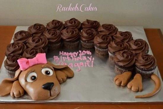 Puppy Dog Pull Apart Cupcake Cake