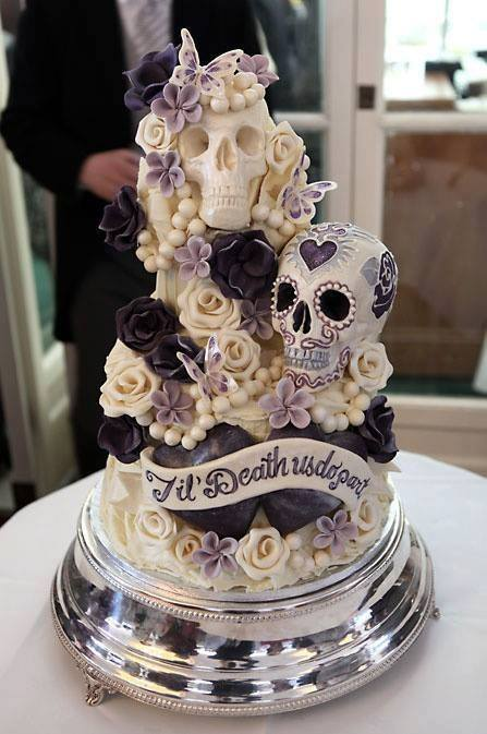 Over 30 Awesome Cake Ideas    Kitchen Fun With My 3 Sons  Til Death Us Do Part Halloween Wedding Cake   these are the BEST