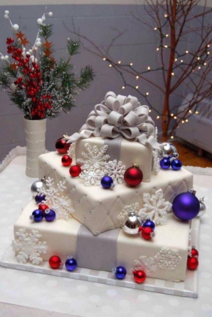 Christmas Gifts Wedding Cake....these are the BEST Cake Ideas!