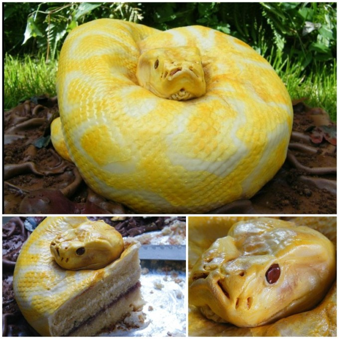 Snake Cake...these are the BEST Cake Ideas!
