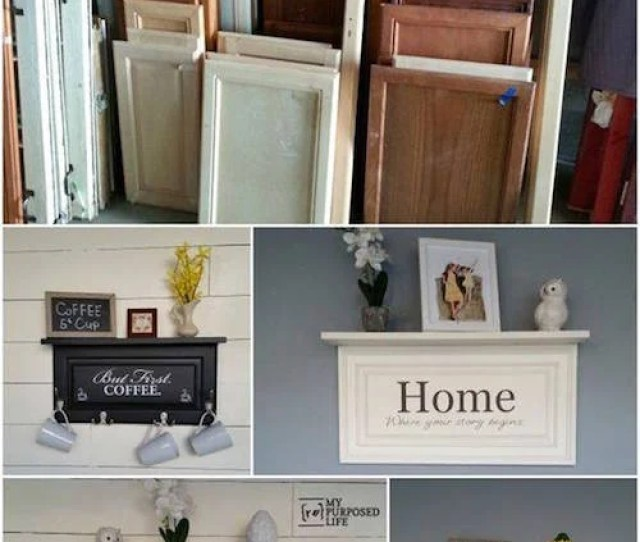 Turn Old Doors Into Hanging Shelves Awesome Upcycled Ideas