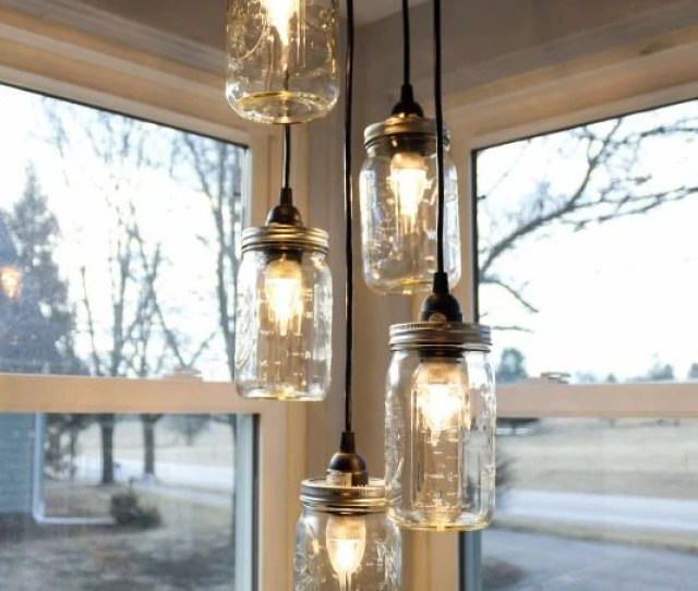 Turn Mason Jars Into A Hanging Kitchen Chandelier Awesome Upcycled Ideas