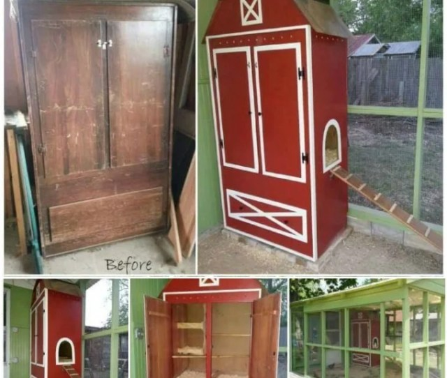 Turn An Old Armoire Into A Chicken Coop These Are Awesome Upcycled