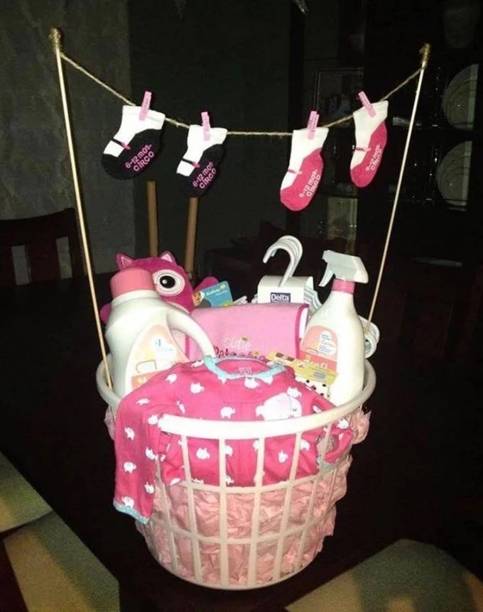 Baby Shower Gift Basket...these are the BEST Baby Shower Ideas!