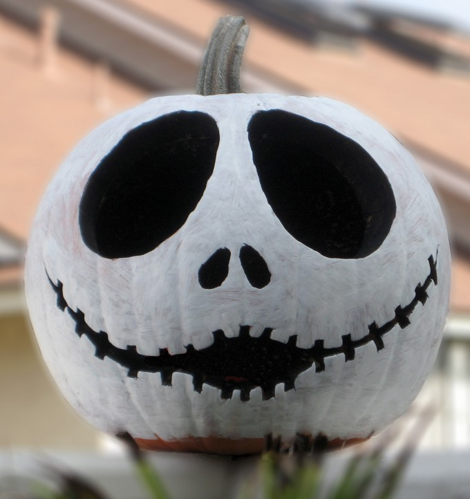 Nightmare Before Christmas Jack Skellington Pumpkin...these are the BEST Carved & Decorated Pumpkin Ideas for Halloween!