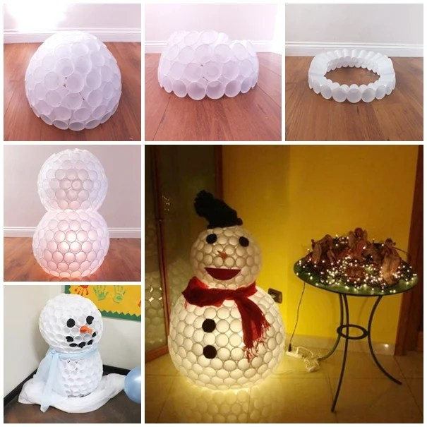 Set Of 4 Snowman Pathway Markers