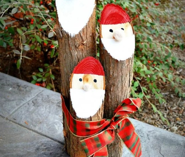 Diy Santa Logs These Are The Best Homemade Christmas Decorations Craft Ideas