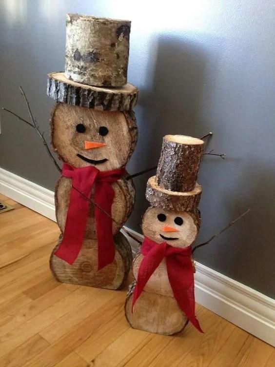 Bûches de bonhomme de neige bricolage