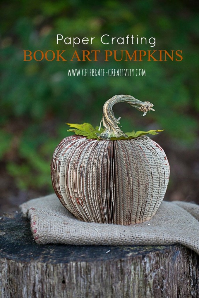 Book Page Pumpkin Craft...these are the BEST Fall Craft Ideas & DIY Home Projects!