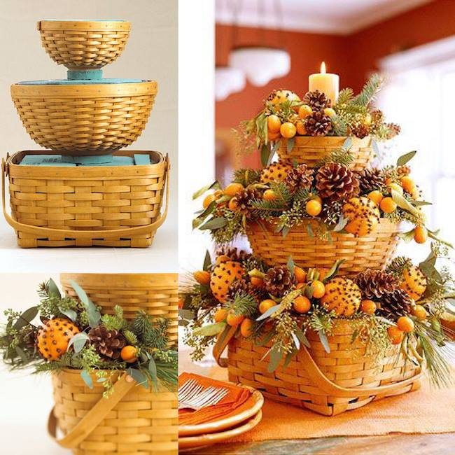DIY Bountiful Fall Baskets...so simple & pretty! These are the BEST Fall Decorating & Craft Ideas!
