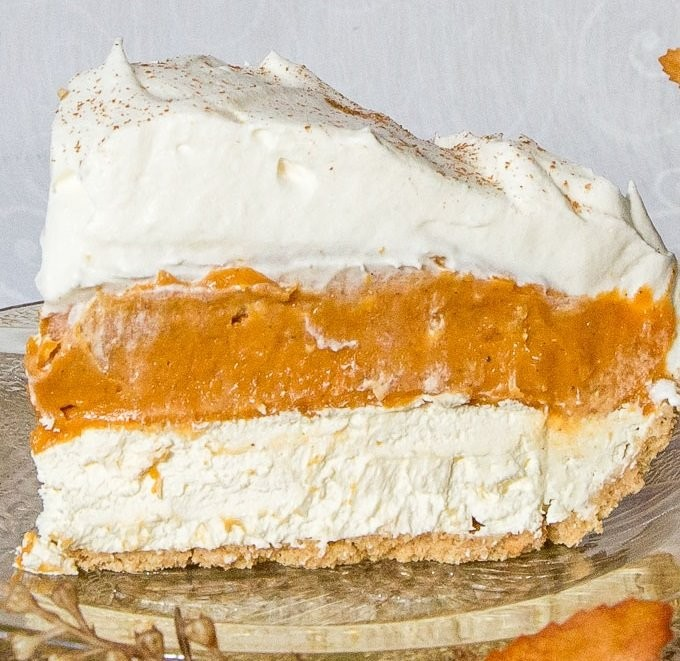 No-Bake Triple Layer Pumpkin Pie...these are the BEST Fall Dessert Recipes!