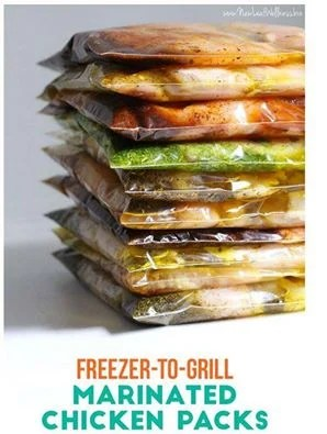 10 Freezer-to-grill Chicken Packs in 20 Minutes...100's of the BEST Freezer Meal Ideas!